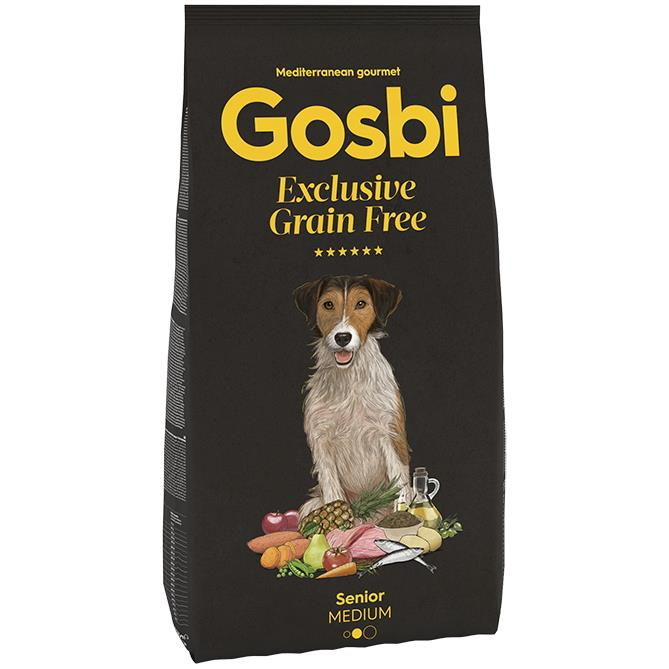 GOSBI GRAIN FREE SENIOR MEDIUM 12 KG.