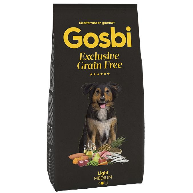 GOSBI GRAIN FREE LIGHT MEDIUM 3 KG.