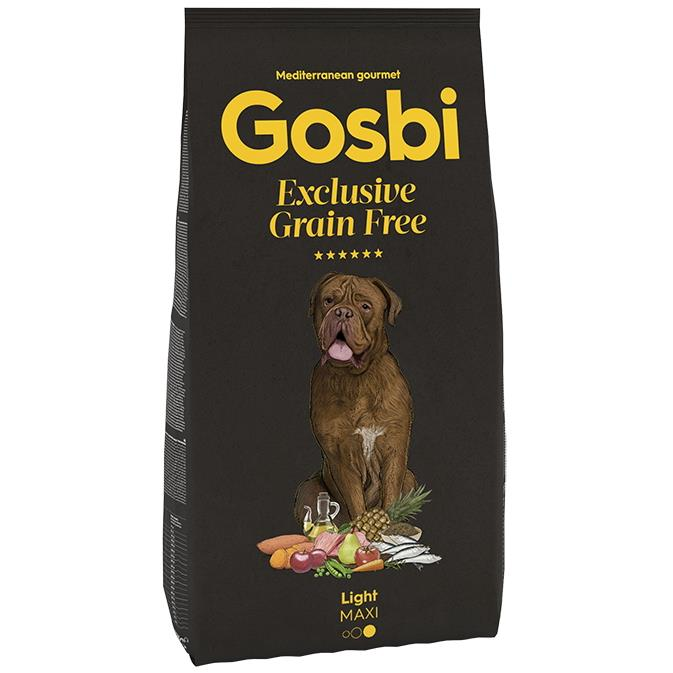 GOSBI GRAIN FREE LIGHT MAXI 12 KG.