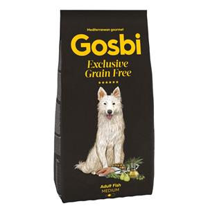 GOSBI GRAIN FREE ADULT RYBA MEDIUM 12 KG.